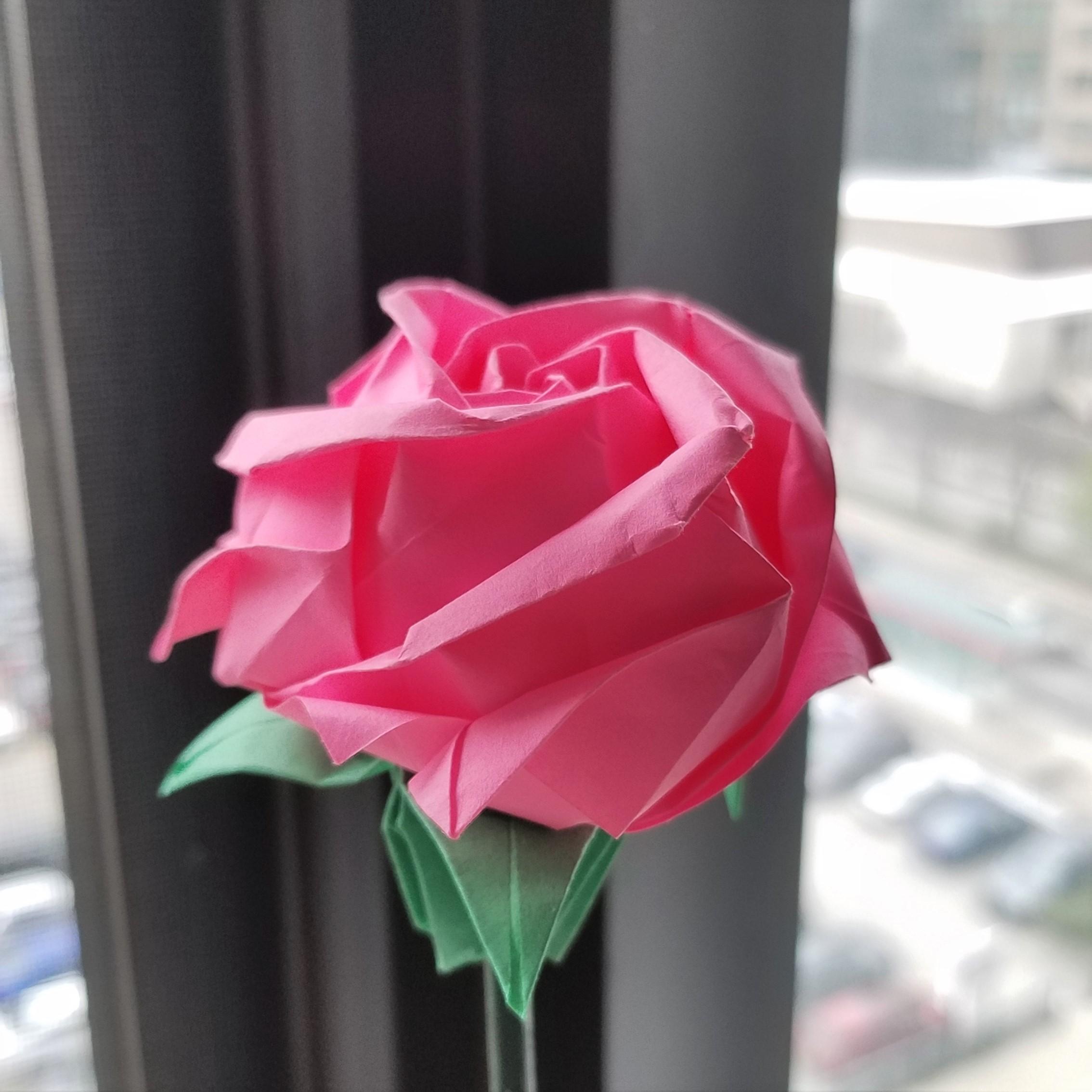 Paper flowers rose diy tutorial easy for children.origami flower ...   2268x2268